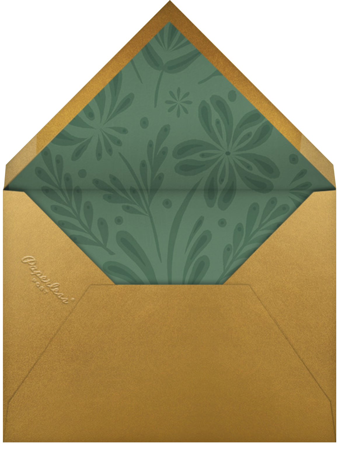 Winter Bouquet - Green - Paperless Post - Holiday cards - envelope back