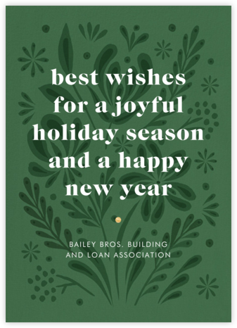 Winter Bouquet - Green - Paperless Post - Company holiday cards