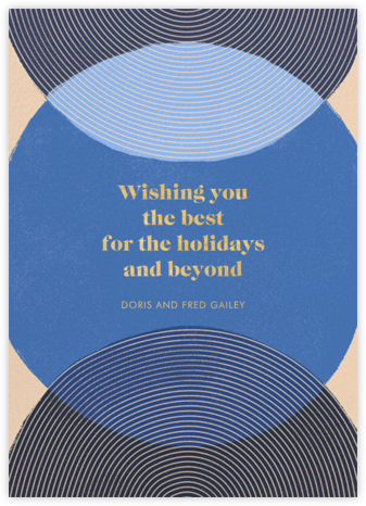 Concentrics - Blue - Paperless Post - Holiday Cards