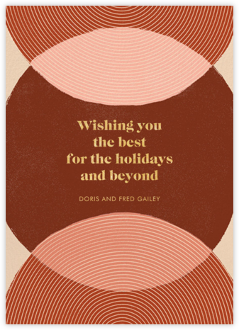 Concentrics - Red - Paperless Post - Holiday cards