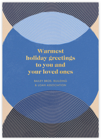 Concentrics - Blue - Paperless Post - Business holiday cards