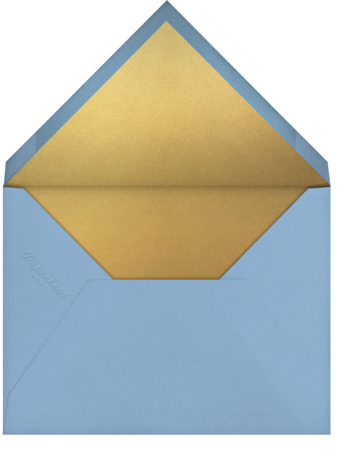 Concentrics - Blue - Paperless Post - New Year's Eve - envelope back