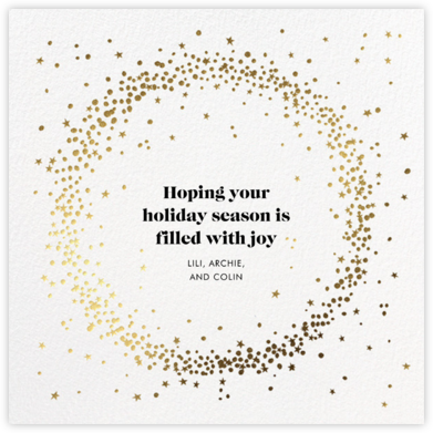Wreath of Stars - White - Paperless Post - Holiday cards
