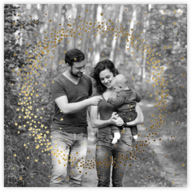 Wreath of Stars Photo - Paperless Post - Holiday Photo Cards