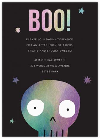Holo Skull - Meri Meri - Halloween invitations