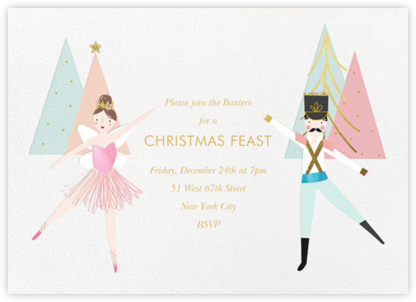 Nutcracker Pas de Deux - Meri Meri - Christmas Party Invitations