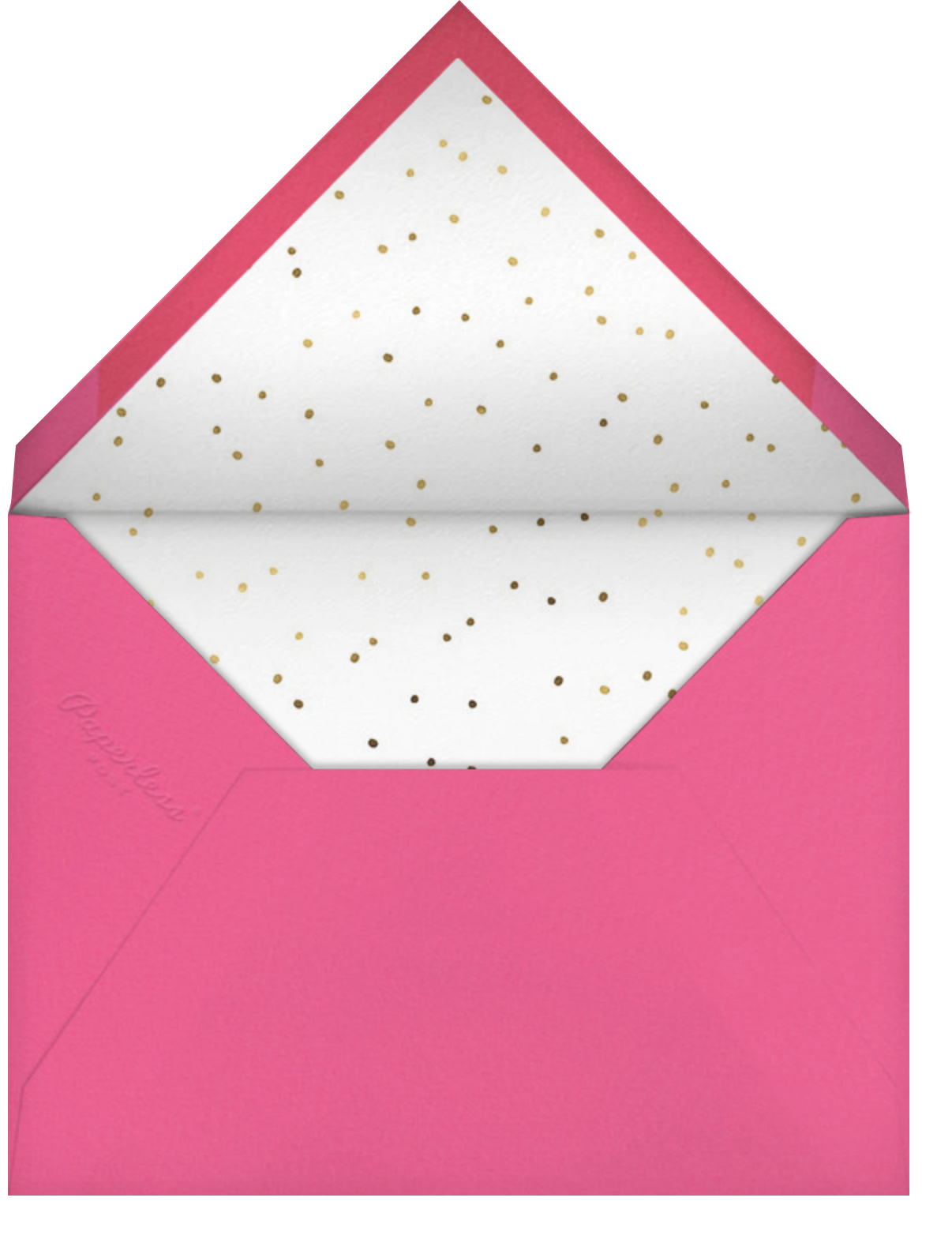 Flamingle All the Way - Meri Meri - Christmas - envelope back