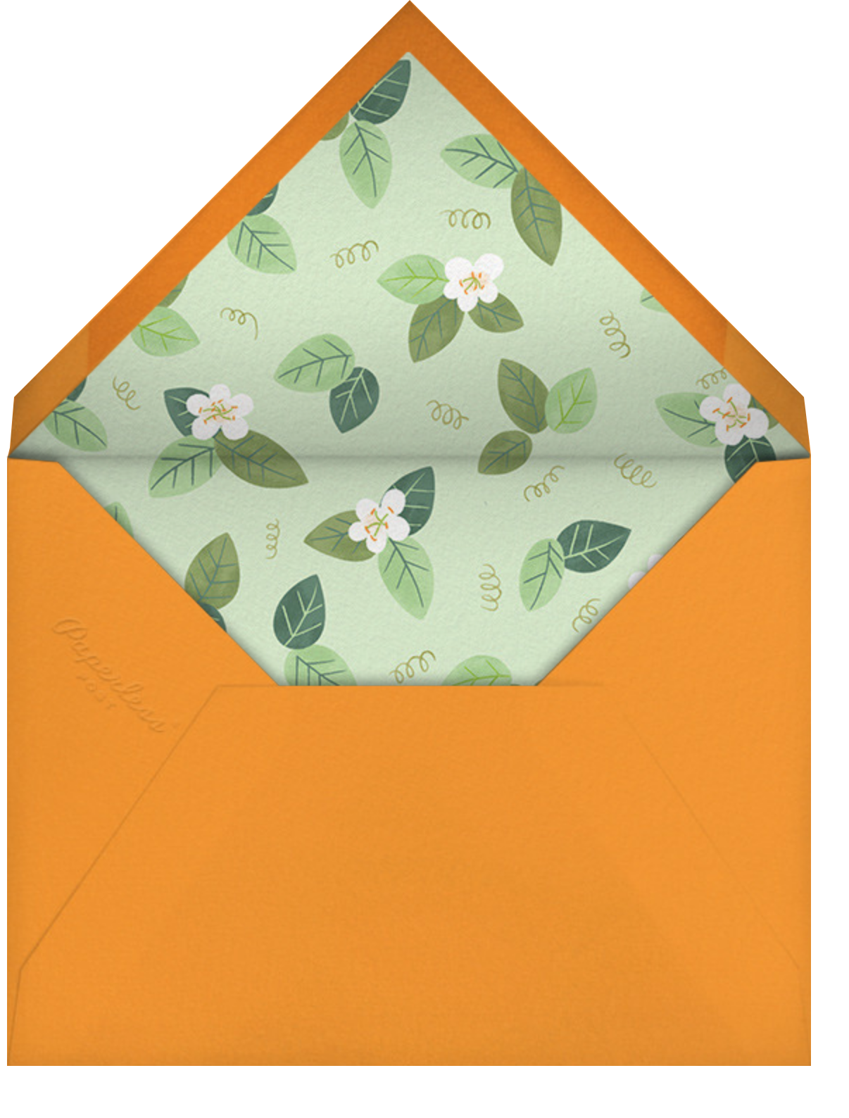 Orange Blossom Trim - Paperless Post - Thank you - envelope back