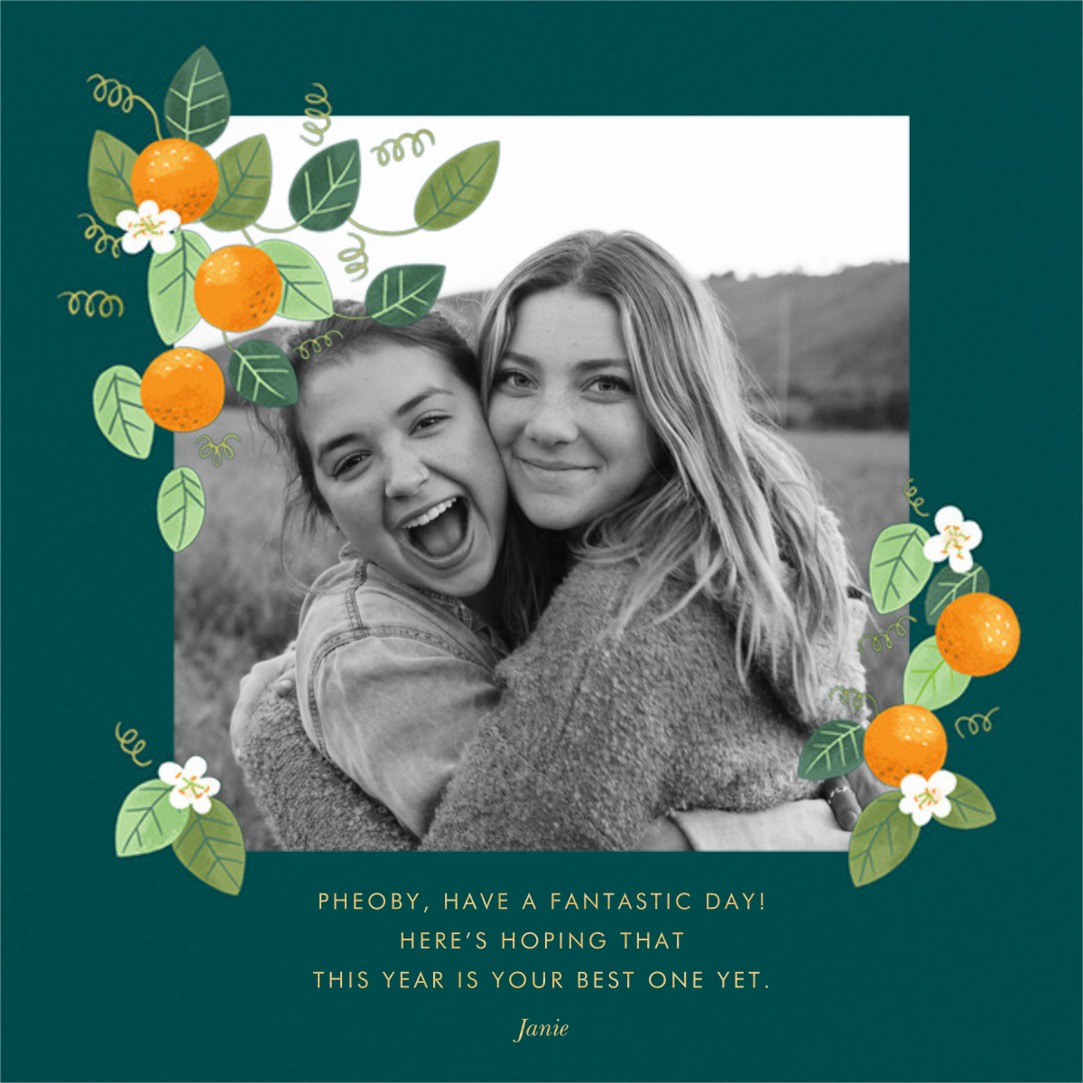 Orange Blossom Trim - Paperless Post - Birthday cards