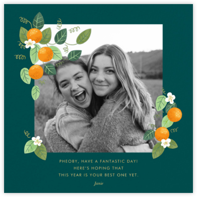 Orange Blossom Trim - Paperless Post - Birthday Cards for Her