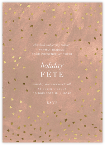 Flurry - Chamois - Kelly Wearstler - Holiday invitations