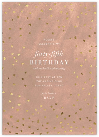 Flurry - Chamois - Kelly Wearstler - Adult Birthday Invitations