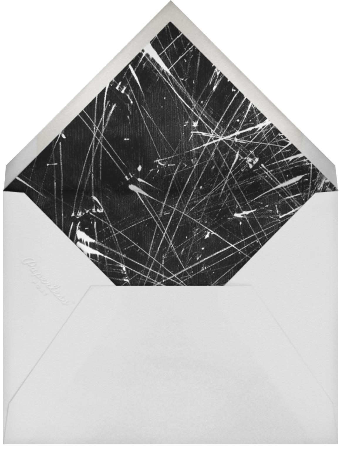 Flurry - Spruce - Kelly Wearstler - Holiday party - envelope back