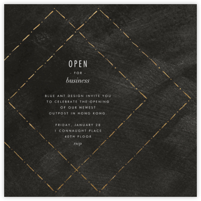 Posh - Kelly Wearstler - Business event invitations