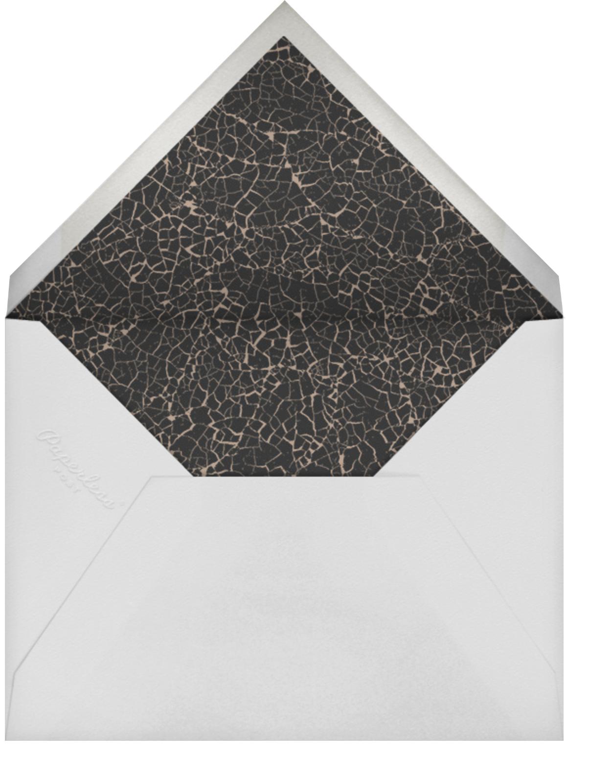Woodcut - Walnut - Kelly Wearstler - Holiday party - envelope back