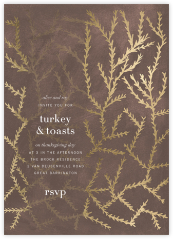 Woodcut - Walnut - Kelly Wearstler - Thanksgiving invitations