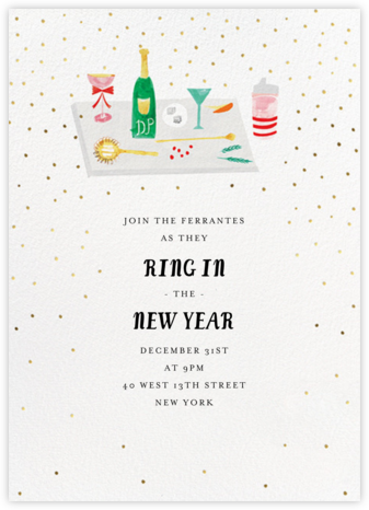Darling, You Shouldn't Have - Mr. Boddington's Studio - New Year's Eve Invitations