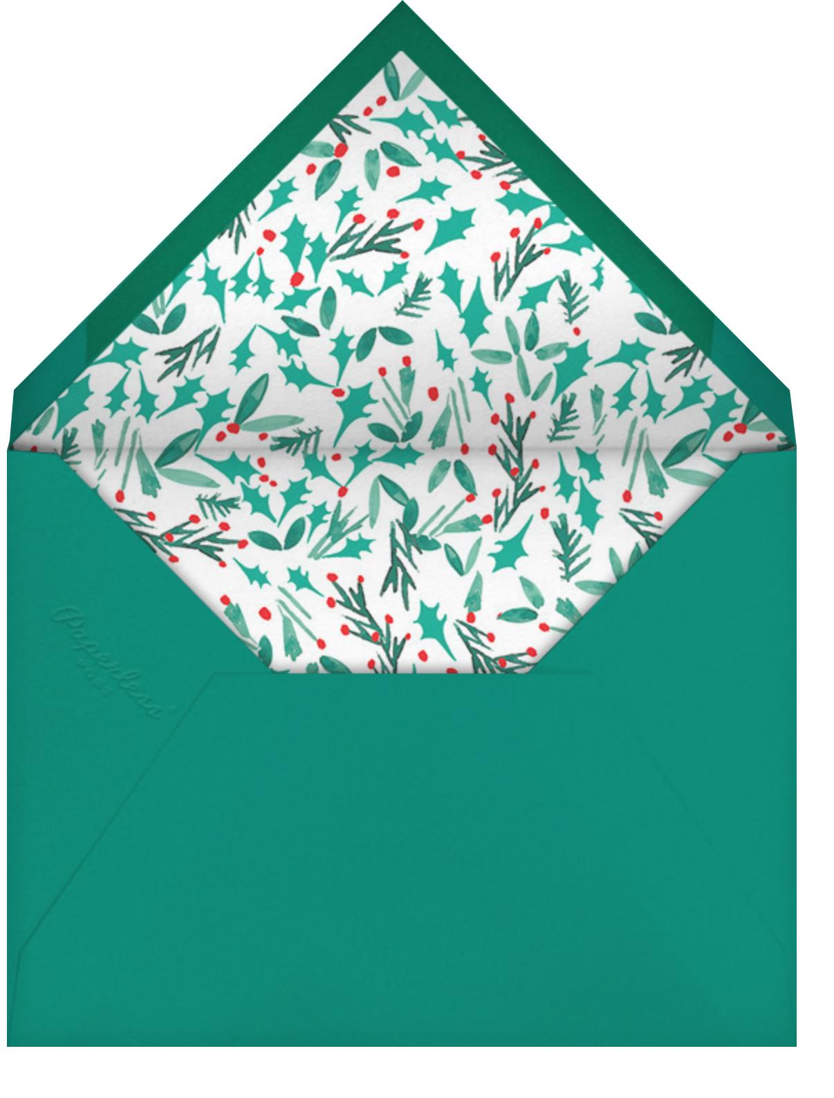 Let's Take a Chance - Mr. Boddington's Studio - Holiday cards - envelope back