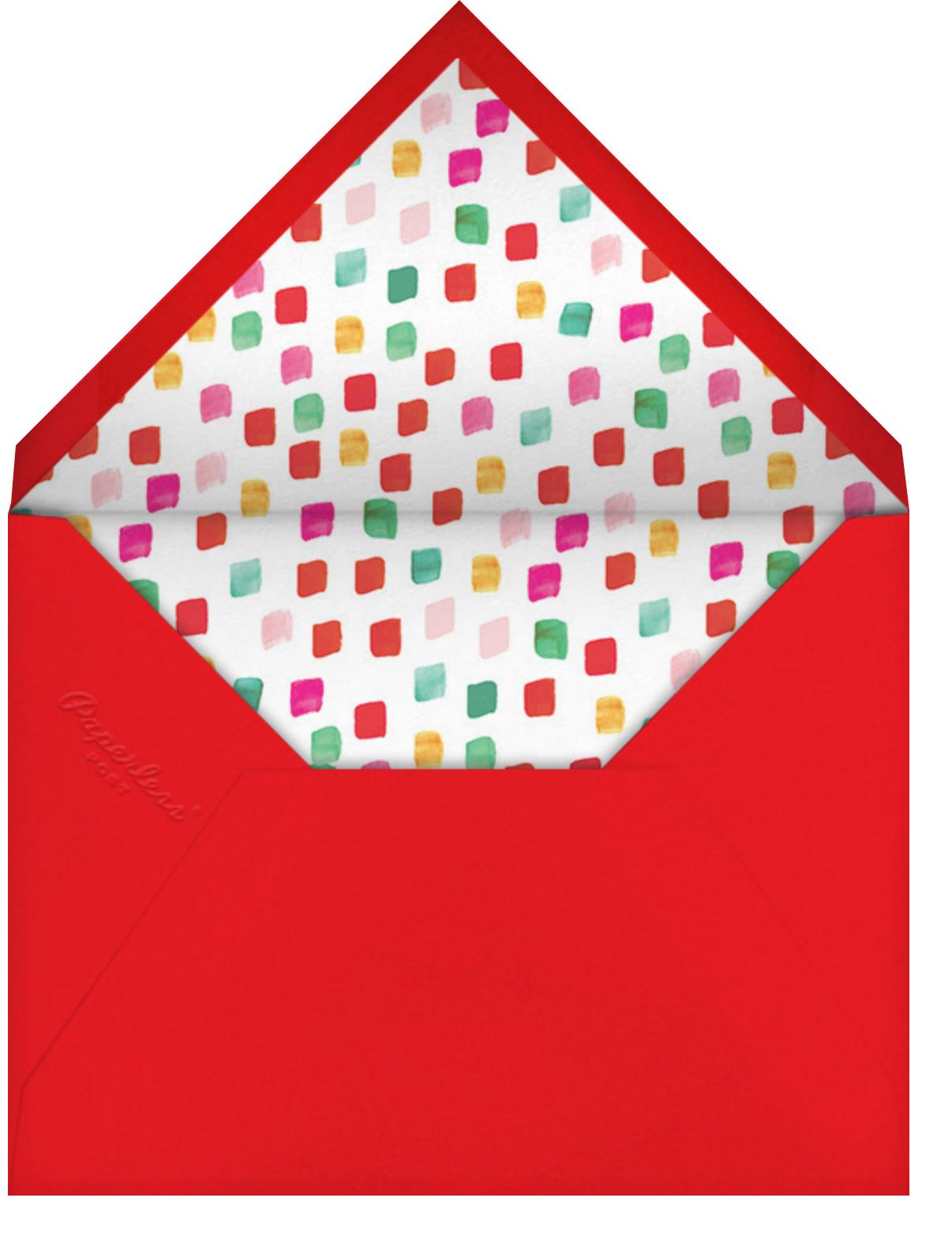 Holiday Palette Photo - Mr. Boddington's Studio - Kids' birthday - envelope back