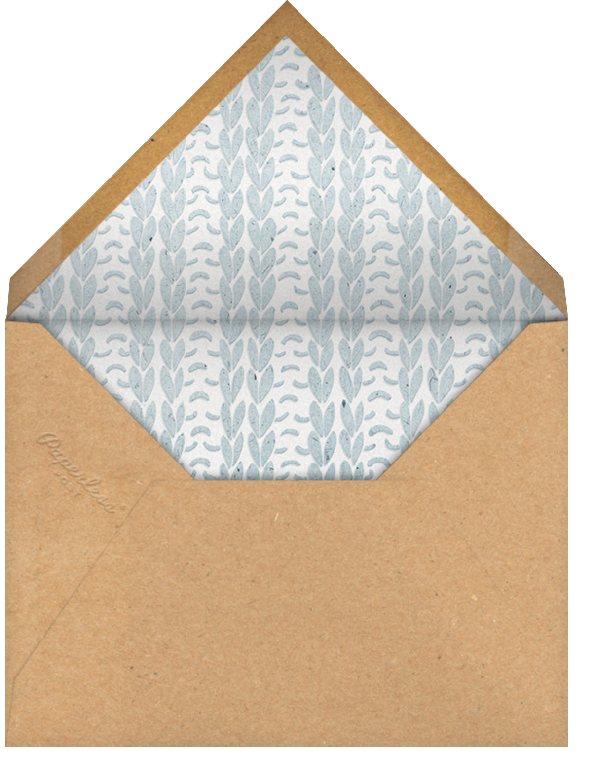 Stitch in Time - Blue - Paperless Post - Holiday cards - envelope back
