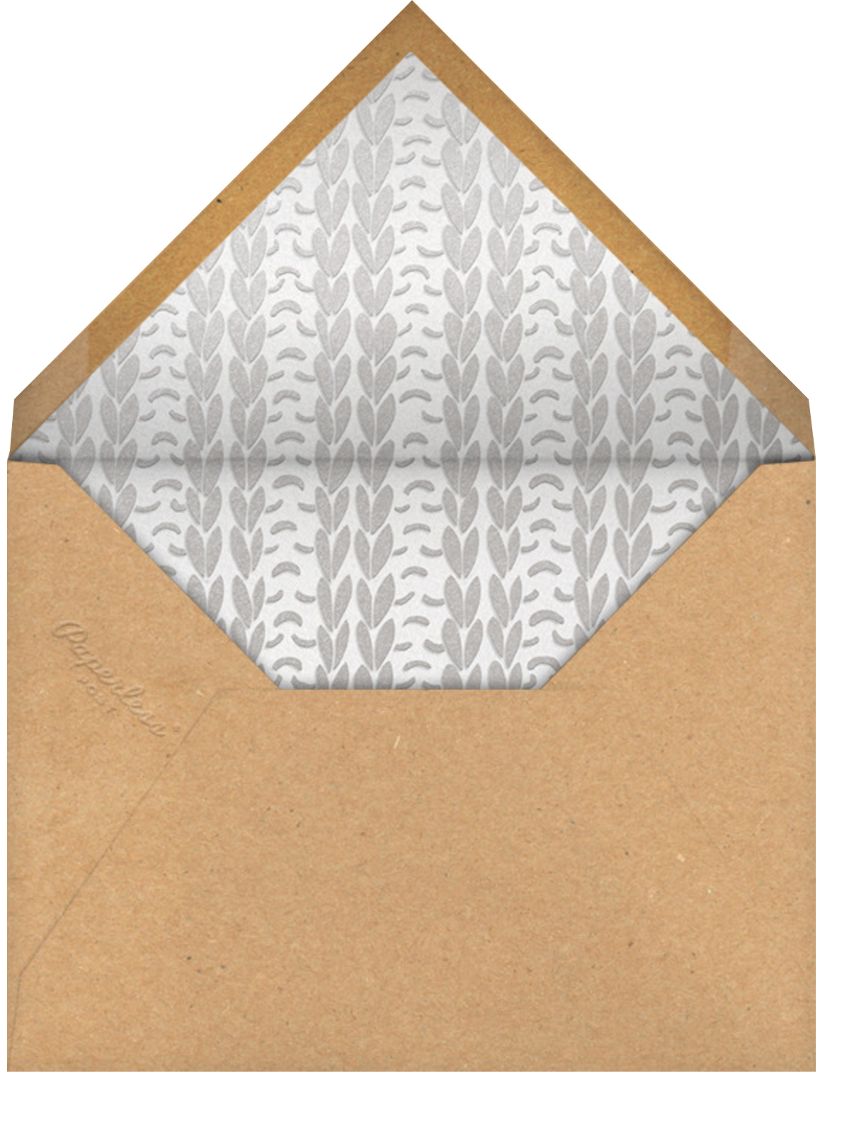Stitch in Time - Silver - Paperless Post - Christmas - envelope back