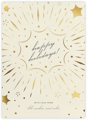 Bursting with Joy - Cream - Paperless Post - Holiday Cards