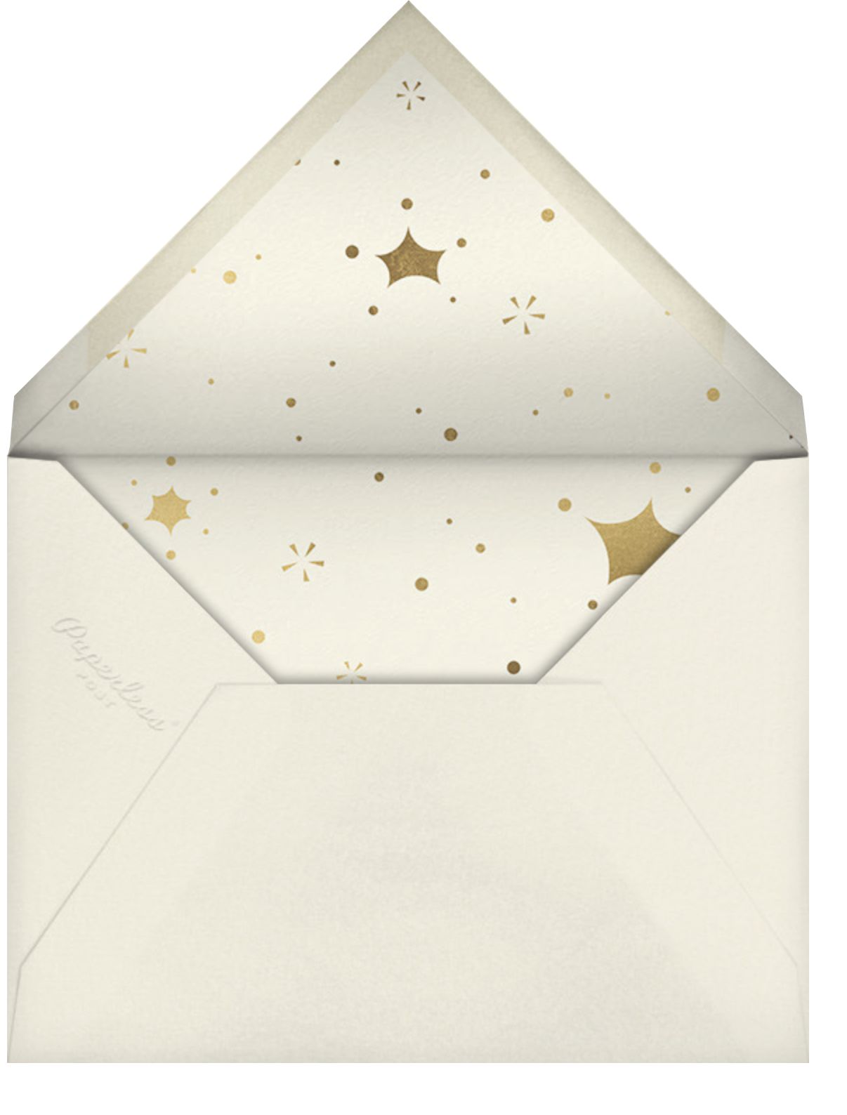 Bursting with Joy - Cream - Paperless Post - Company holiday cards - envelope back