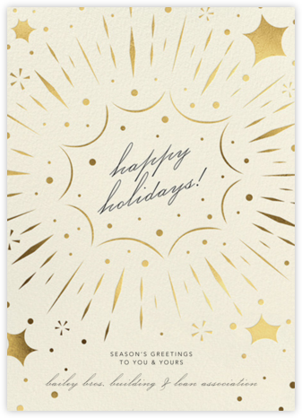 Bursting with Joy - Cream - Paperless Post - Company holiday cards