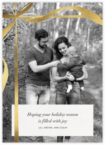 Proudly Present (Photo) - Paperless Post - Photo Christmas cards
