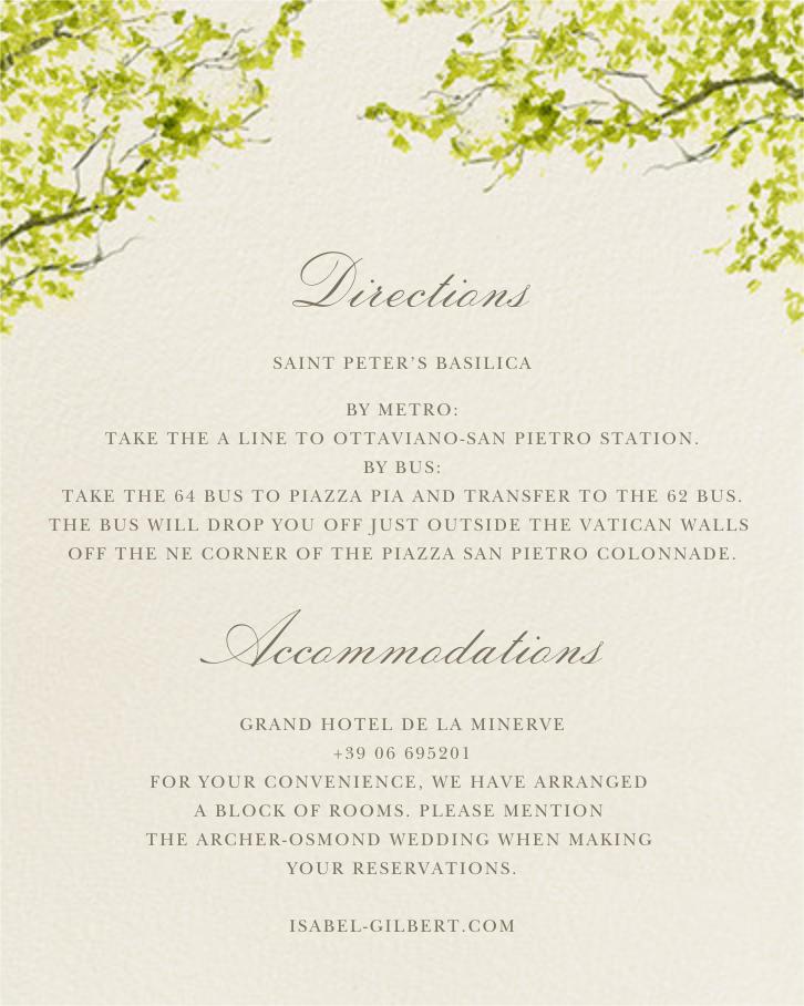 Spring Orchard - Felix Doolittle - Printable invitations - insert front