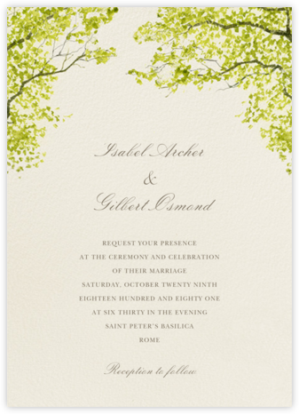 Spring Orchard - Felix Doolittle - Destination wedding invitations