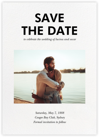 Hedcut - Paperless Post - Photo save the dates