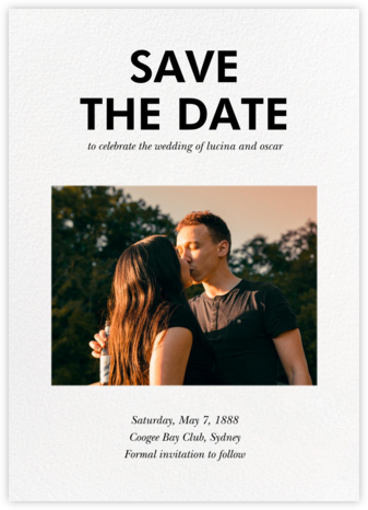 Hedcut - Paperless Post - Save the Date with Photo