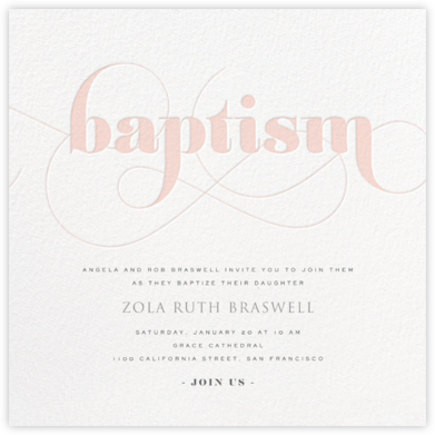 Baptism Whirl - Pink - bluepoolroad - bluepoolroad invitations and cards