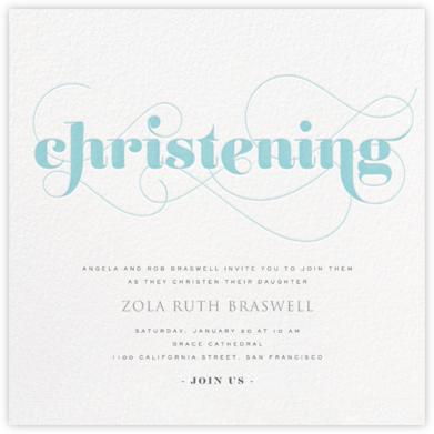 Christening Whirl - Blue - bluepoolroad - Baptism invitations