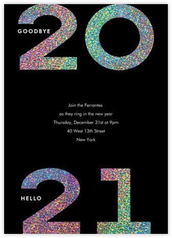 Glitter Goodbye - Paperless Post - New Year's Eve Invitations
