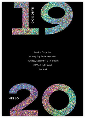 Glitter Goodbye 2020 - Paperless Post - New Year's Eve Invitations