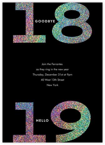 Glitter Goodbye 2019 - Paperless Post - New Year's Eve