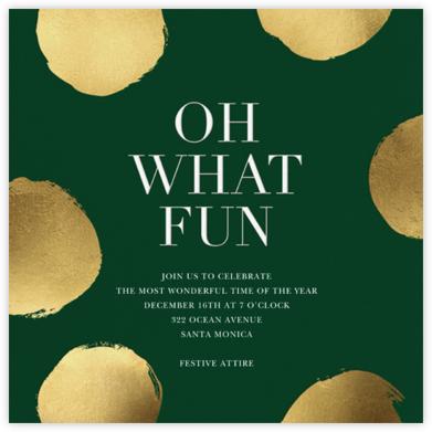 Holiday Superscale Dot - Hunter Green - Sugar Paper - Holiday invitations