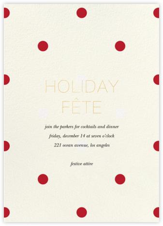 Diadem Dots - Red - Sugar Paper - Holiday invitations