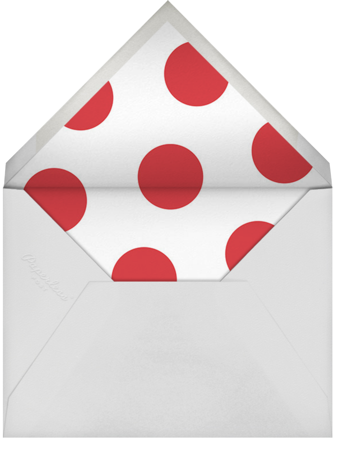 Ho Ho Xo - Sugar Paper - Christmas party - envelope back
