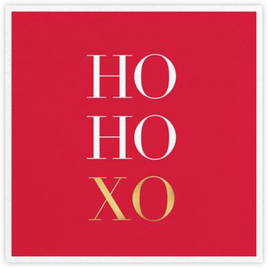 Ho Ho Xo - Sugar Paper - Christmas invitations