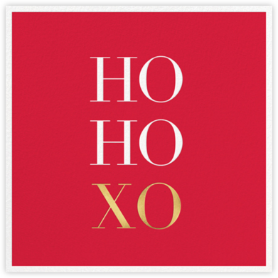 Ho Ho Xo - Sugar Paper - Sugar Paper