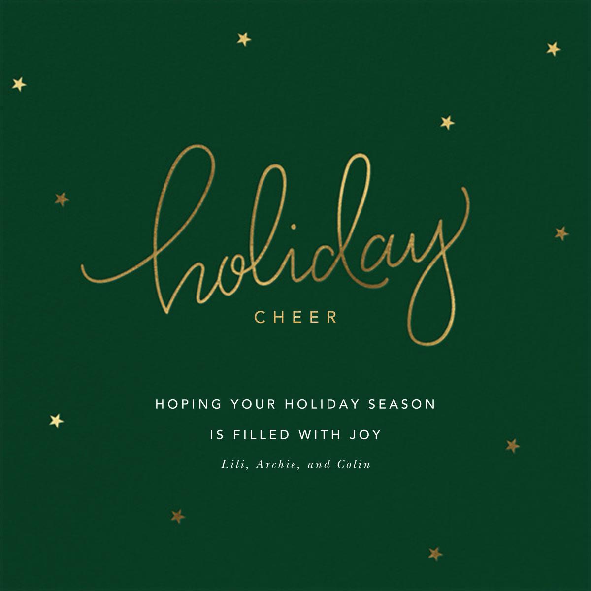 Holiday Curls - Sugar Paper - Holiday cards