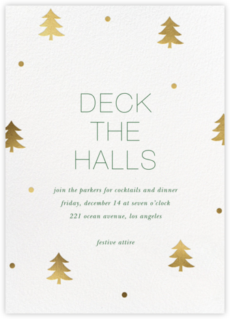 Holiday Cutups - Sugar Paper - Christmas invitations