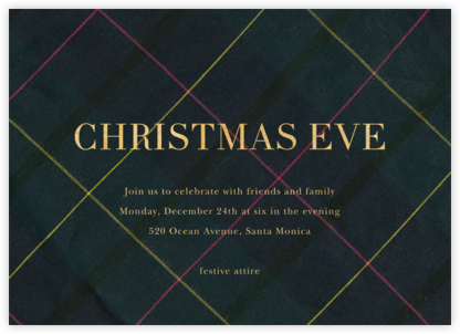 Mod Tartan - Sugar Paper - Christmas invitations
