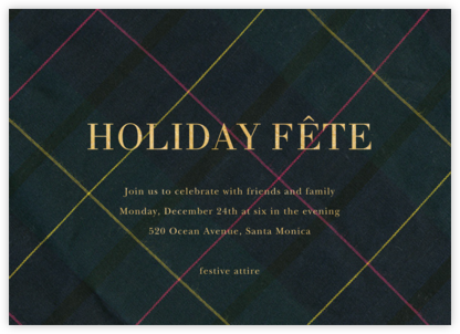 Mod Tartan - Sugar Paper - Holiday invitations