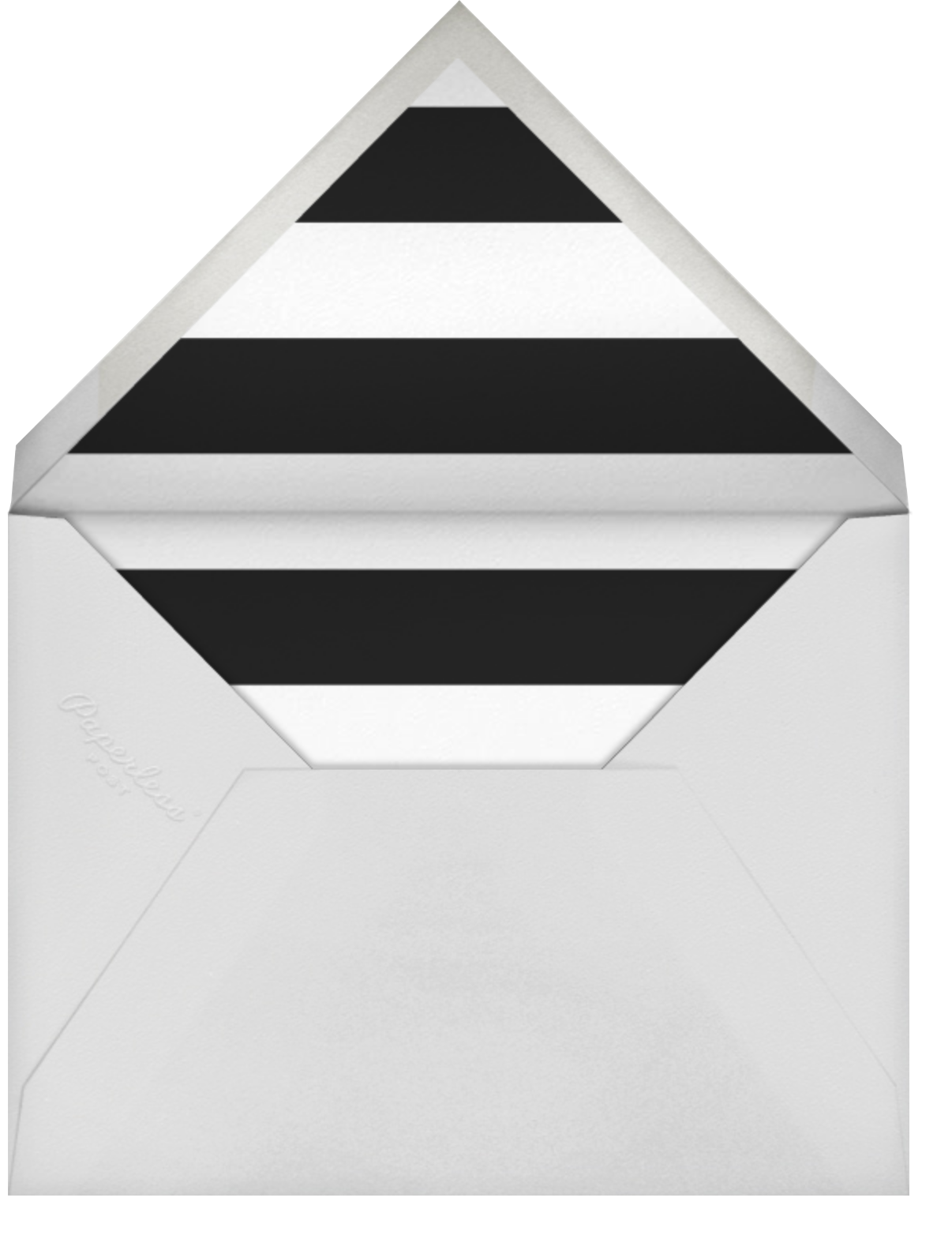 Ring in Joy - Sugar Paper - Christmas party - envelope back