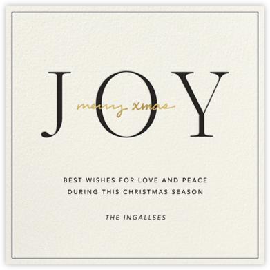 Ring in Joy - Sugar Paper -