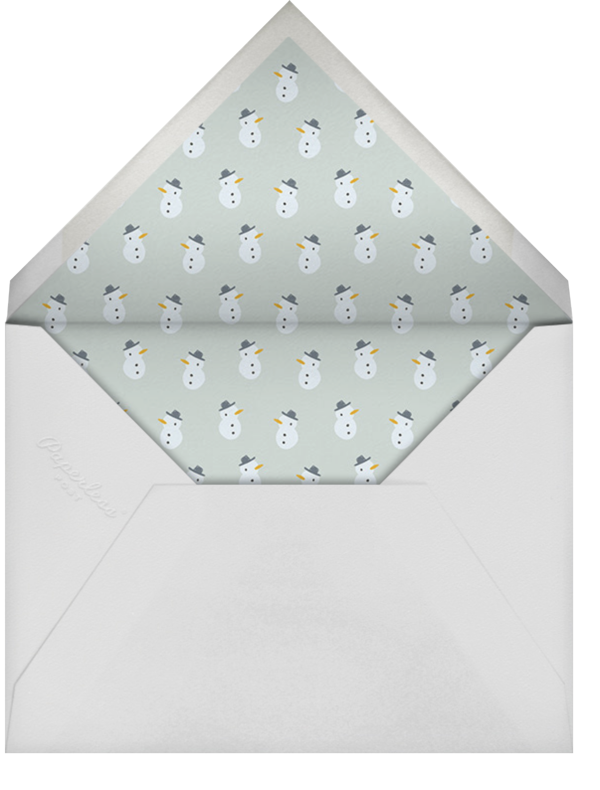 Holiday Tidings - Little Cube - Holiday cards - envelope back